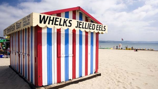 One of Britain's few remaining jellied eel stalls.