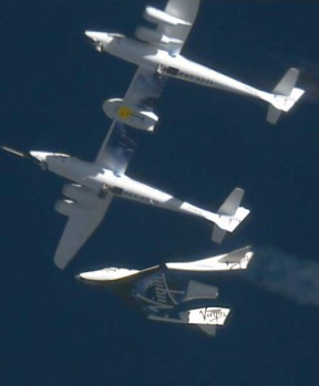 Company officials say SpaceShipTwo then landed at an airport runway on its own followed by the mothership. The entire ...