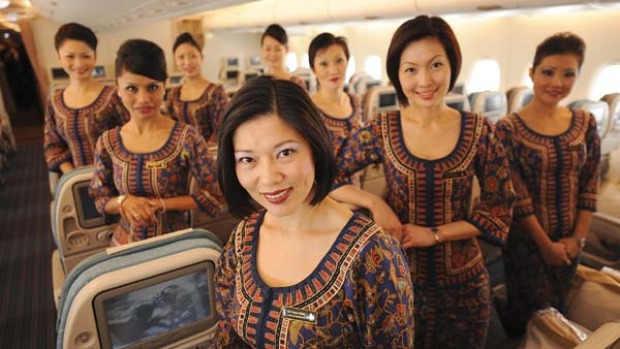 Class act ... Singapore Airlines' cabin crew are polite and efficient.