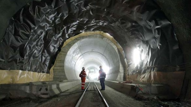 The ceremonial breakthrough in the 57-kilometre long Gotthard base tunnel through the foot of the Alps is due to take ...