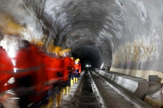 By the time it opens for service in 2017, it will exceed the 53.8-kilometre Seikan rail tunnel linking the Japanese ...