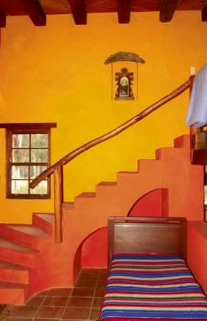 Earthy ... the Hacienda Apartment is a riot of colour.
