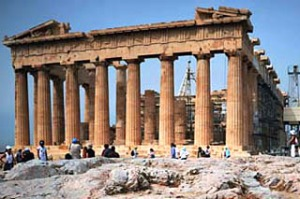 Modern antique ... the Acropolis in Athens.