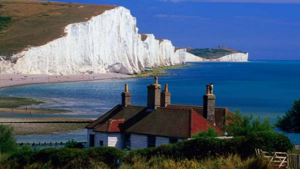 Ups and Downs ... the chalk cliffs of the Seven Sisters.