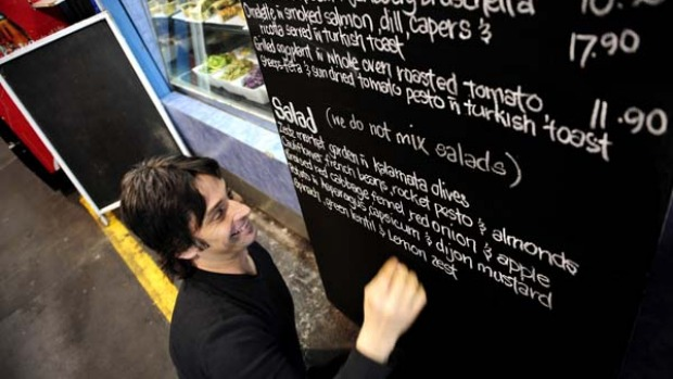 Get fresh ... the menu at Zedz shows what's good in the market on that particular day.