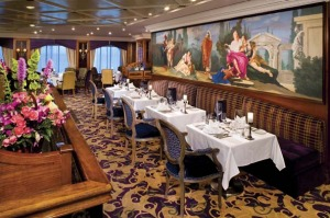 First-class carriage ... the ship's main dining room.