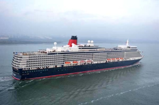 The Queen Elizabeth is 294 metres long and can carry 2068 passengers and 996 crew. She joins the Queen Mary 2 (QM 2) and ...