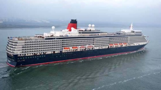 The Queen Elizabeth, which is 294 metres long and can carry 2068 passengers and 996 crew, is coming to Melbourne.