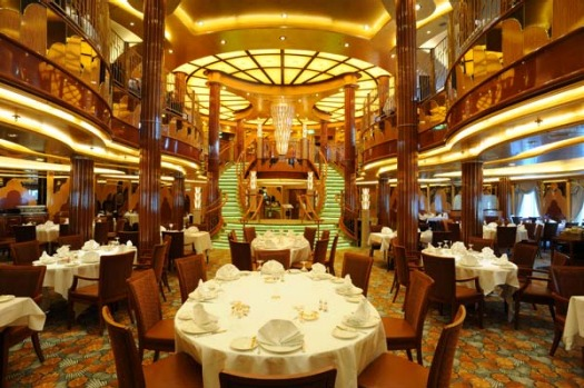 Everything about the Queen Elizabeth, from the dress code to the art- deco furnishings, links the ship to a bygone era.