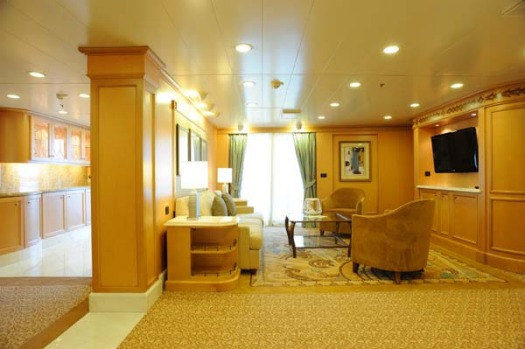 A master suite on board the Queen Elizabeth.