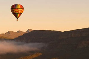 ballooning over Wilpena Pound with Gold Rush Ballooning