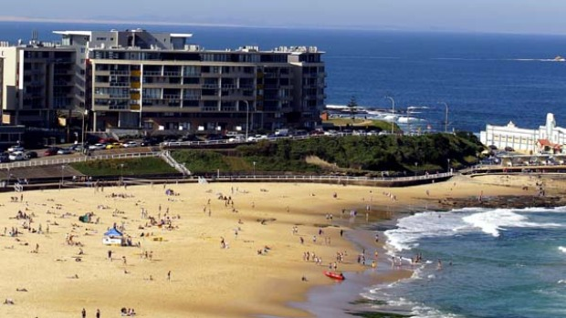 Great surf ... Newcastle is appealing because of its beaches.
