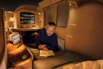The best of first class flying: First class on board an Emirates A380 superjumbo.