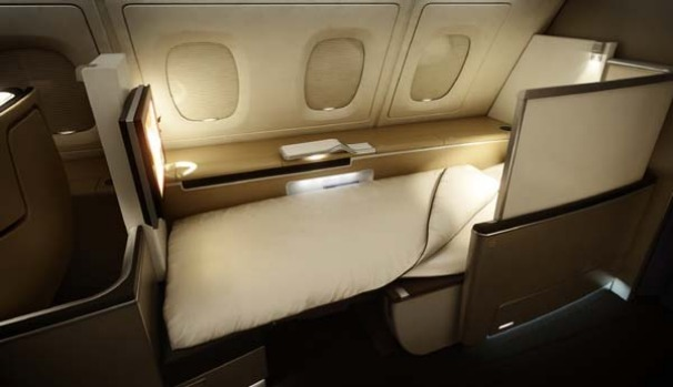 Lufthansa introduced a new first class after receiving its first Airbus A380.