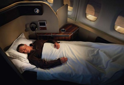 First class on board the Qantas A380.