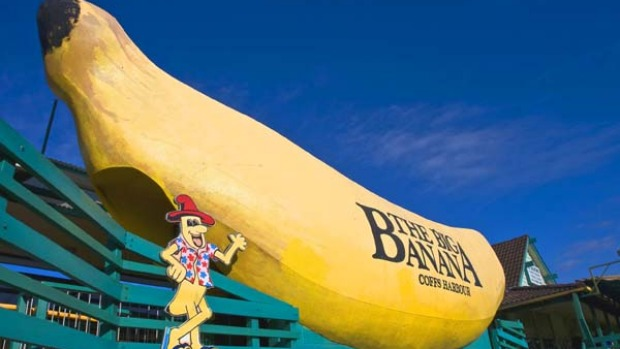 Going bananas ... the original Big Banana still sits beside the Pacific Highway.