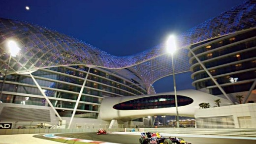 Lights, action ... Abu Dhabi staged its first grand prix a year ago, at Yas Island.