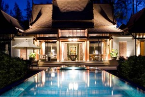 For the family ... a double-pool villa at the Banyan Tree, Phuket.