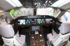An interior view of the C919 prototype is seen at an aviation exhibition during the Zhuhai Airshow, in south China's ...