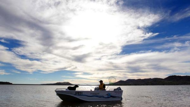 Reel McCoy ... Lake Hume has been transformed from dust bowl to angler's playground.