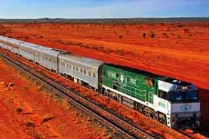 Space exploration ... the Southern Spirit crosses Australia's red heart.