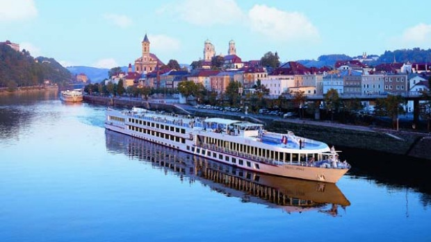 Go with the flow ... the Viking Legend on the Danube at Passau.