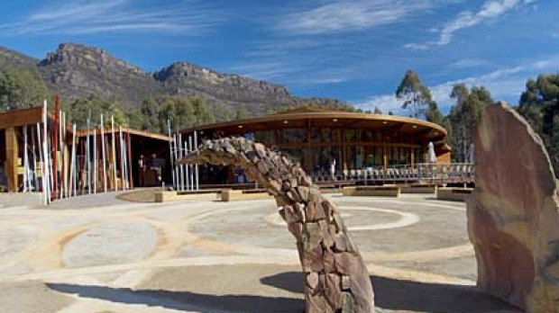 Nature's best ... Brambuk, the National Park and Cultural Centre in Halls Gap.