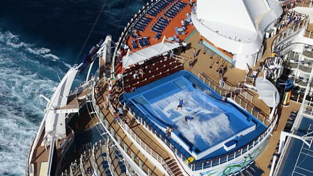Allure of the Seas's 'flow rider' surf pool.