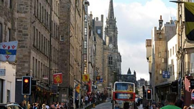 Steeped in history ... Edinburgh's Royal Mile.
