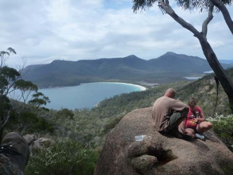 The view over Wineglass Bay.