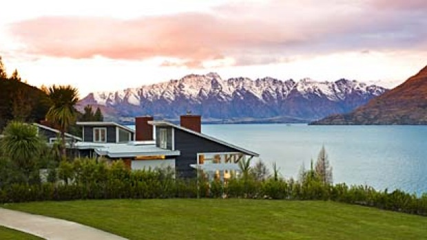 South Island splendour ... Matakauri Lodge overlooks Lake Wakatipu and snow-capped mountains.