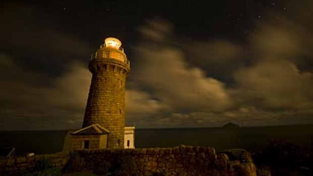 Illuminating ... the historical Wilsons Promontory lighthouse, where overnight accommodation is available.
