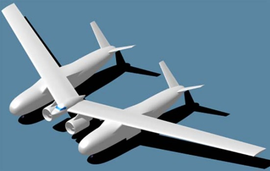 Artist's concept of an aircraft that could enter service in 2025 from the team led by Northrop Grumman.