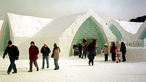 Chilled ... the Hotel de Glace.