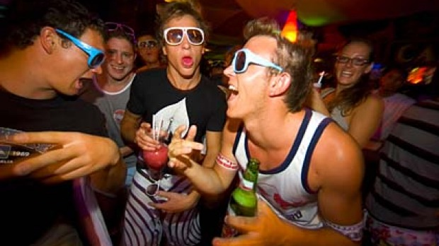 Bali bars are popular for Aussies on buck's and hen's parties.