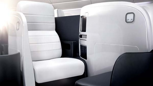 Air New Zealand's business premier class seat.