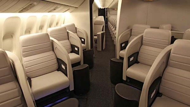Air New Zealand's business premiers seats.