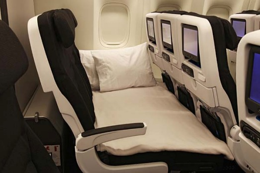 Air New Zealand's radical new economy seat design - the Skycouch.