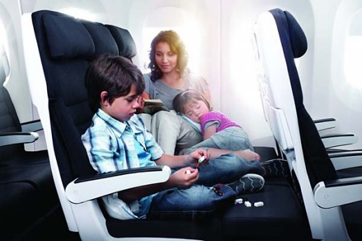 The Skycouch could be a godsend for parents travelling with small children on long-haul flights.