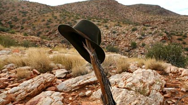 Heads up ... on the Larapinta Trail in the West MacDonnell Ranges.