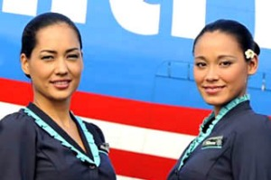 Air Tahiti Nui flight attendants