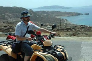 Hiring a bike is an easy proposition on Mykonos.