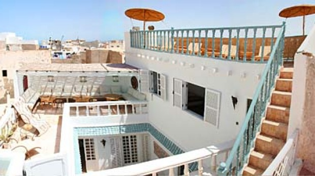 High life ... the Riad Baladin terrace.