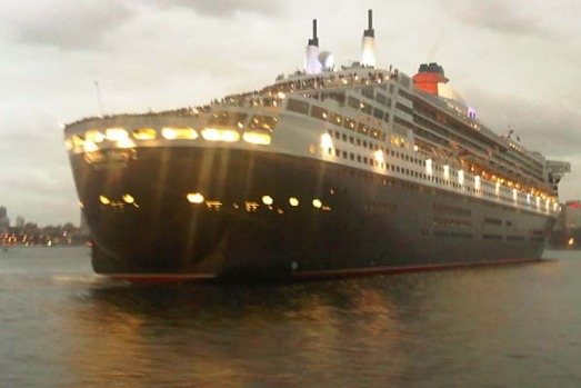 The Queen Elizabeth and the Queen Mary 2 have arrived in Sydney Harbour this morning.