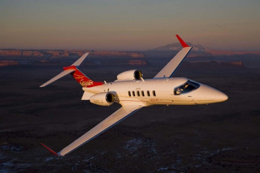 The Learjet 40XR for seven passengers will fly above the weather at 51,000 feet at speeds up to 860km/h and has a range ...