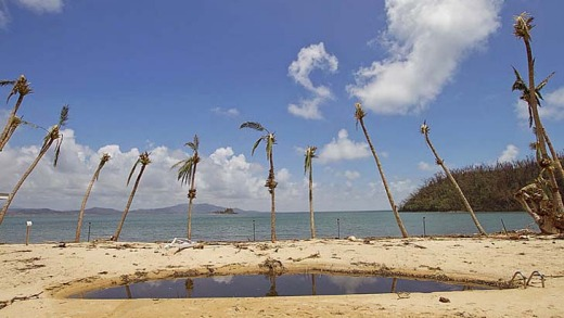 The Dunk Island Butterfly pool post cyclone Yasi.