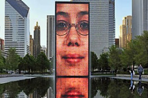 United States, Illinois, Chicago,  Millennium Park, the Crown Fountain