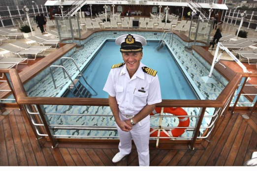 On her majesty's service ... Queen Elizabeth captain Julian Burgess.