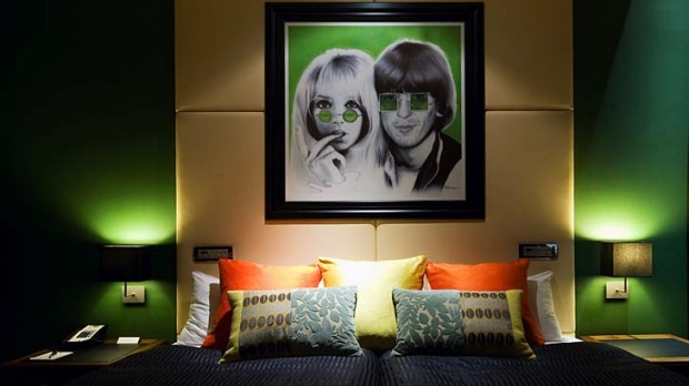 Subtle ... a themed room at Hard Days Night.