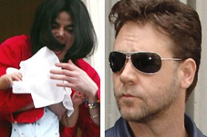 Michael Jackson, Russell Crowe Hotels